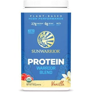 Warrior Blend Vanille 1kg, Synergie de Protéines Vegan & Crues 72%