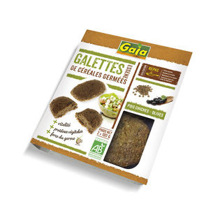 2 Galettes Essene Pois Chiches Germés & Olives bio x2