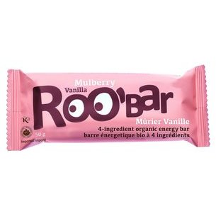 Barre Mulberry & Vanille Superfood bio, crue ROO'BAR