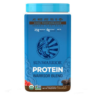 Warrior Blend Chocolat 750g, Synergie de Protéines Vegan & Crues 64%