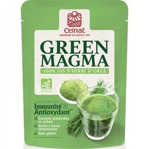 Green Magma, jus d'herbe d'orge Bio en poudre 150g